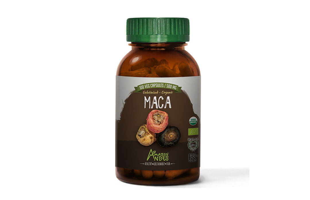 Maca capsules (100 x 500 mg) USDA NOP and EU organic