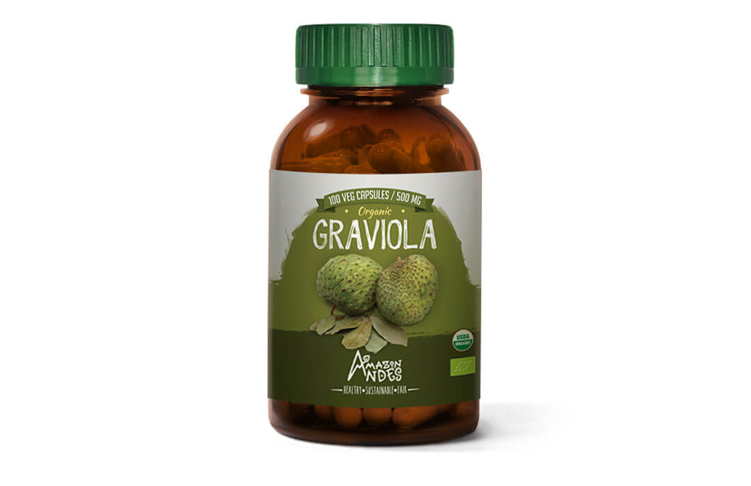 Graviola capsules (100 x 400 mg) Organic EU, USDA and Kosher certified