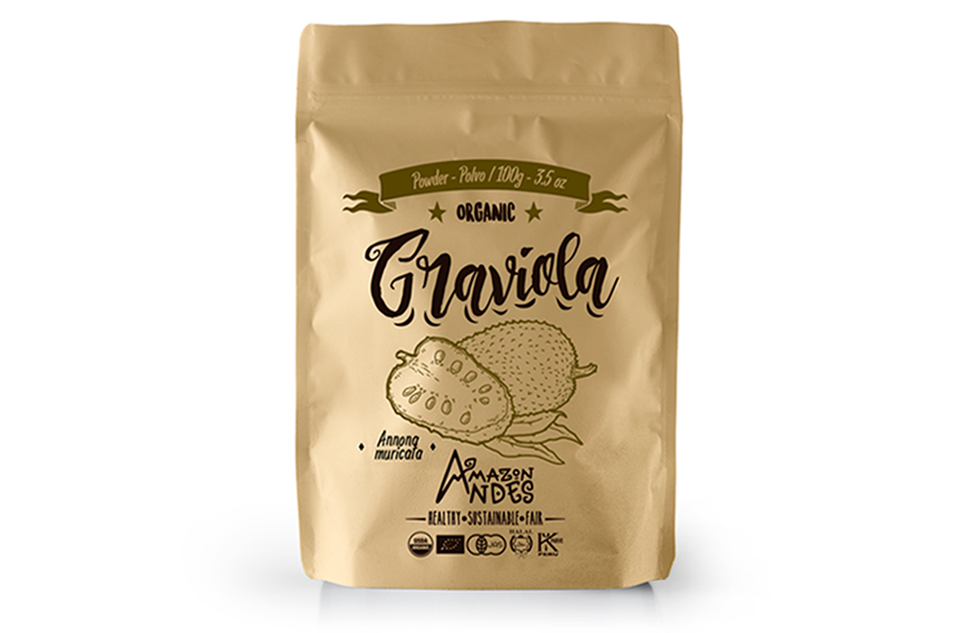 Graviola Soursop Powder 100g – 3.5 oz – organic NOP,JAS,EU and KOSHER