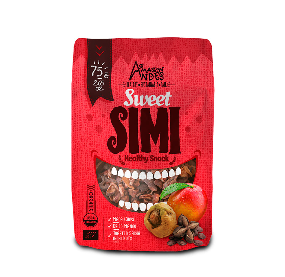Sweet Simi Snack 75 g (Maca chips, sacha inchi roasted with dehydrated Mango)