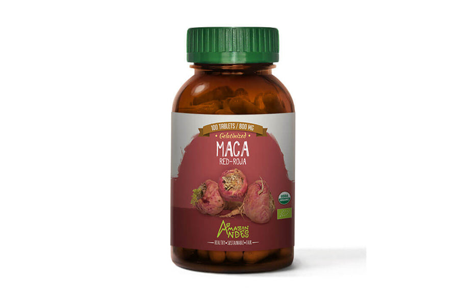Red Maca Tablets (100 x 800 mg) USDA NOP and EU organic