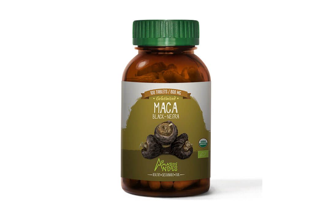 Black Maca tablets (100 x 800 mg) USDA and EU organic
