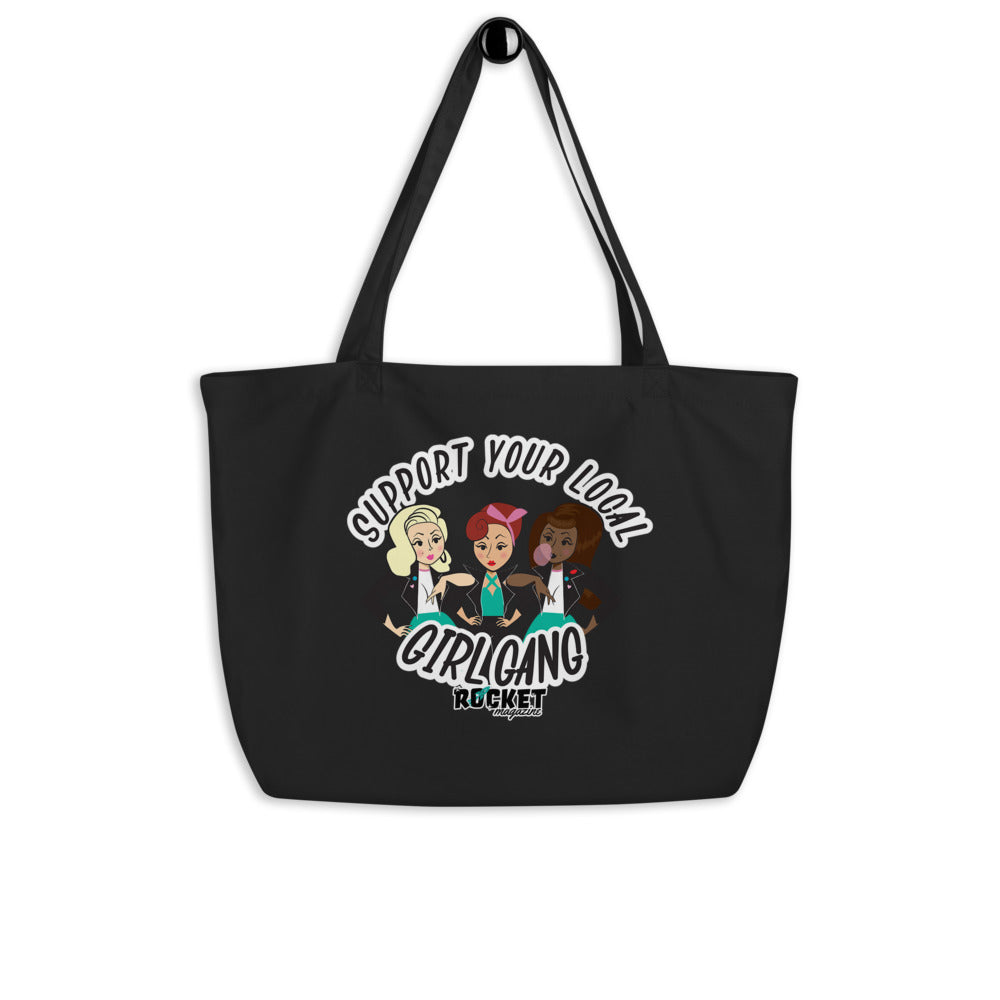 Girl Gang Large organic tote bag
