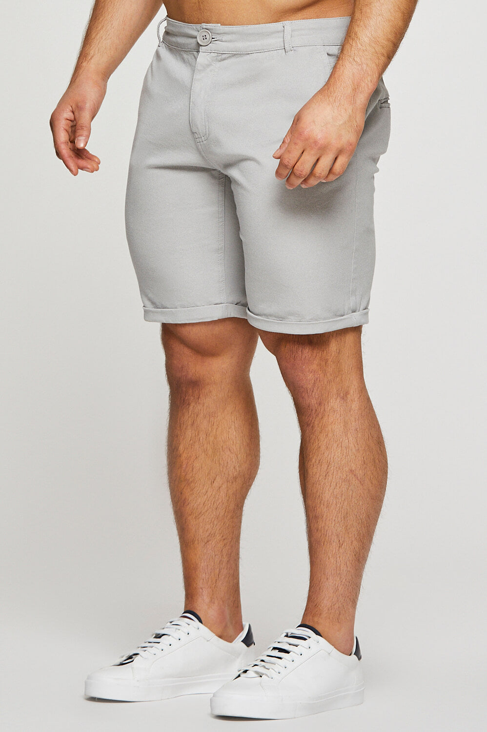 Essential Chino Shorts in Light Grey