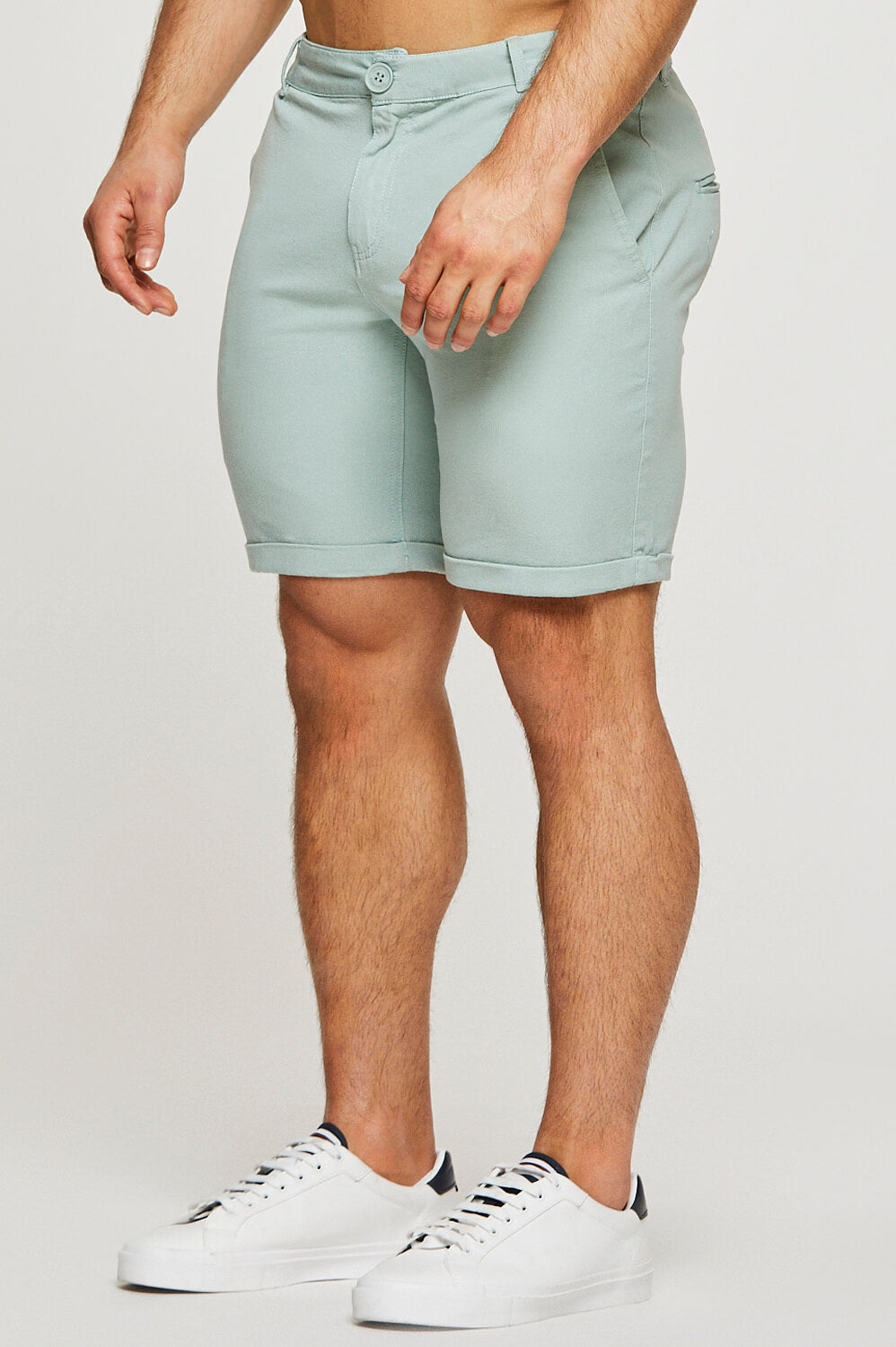 Essential Chino Shorts in Sage
