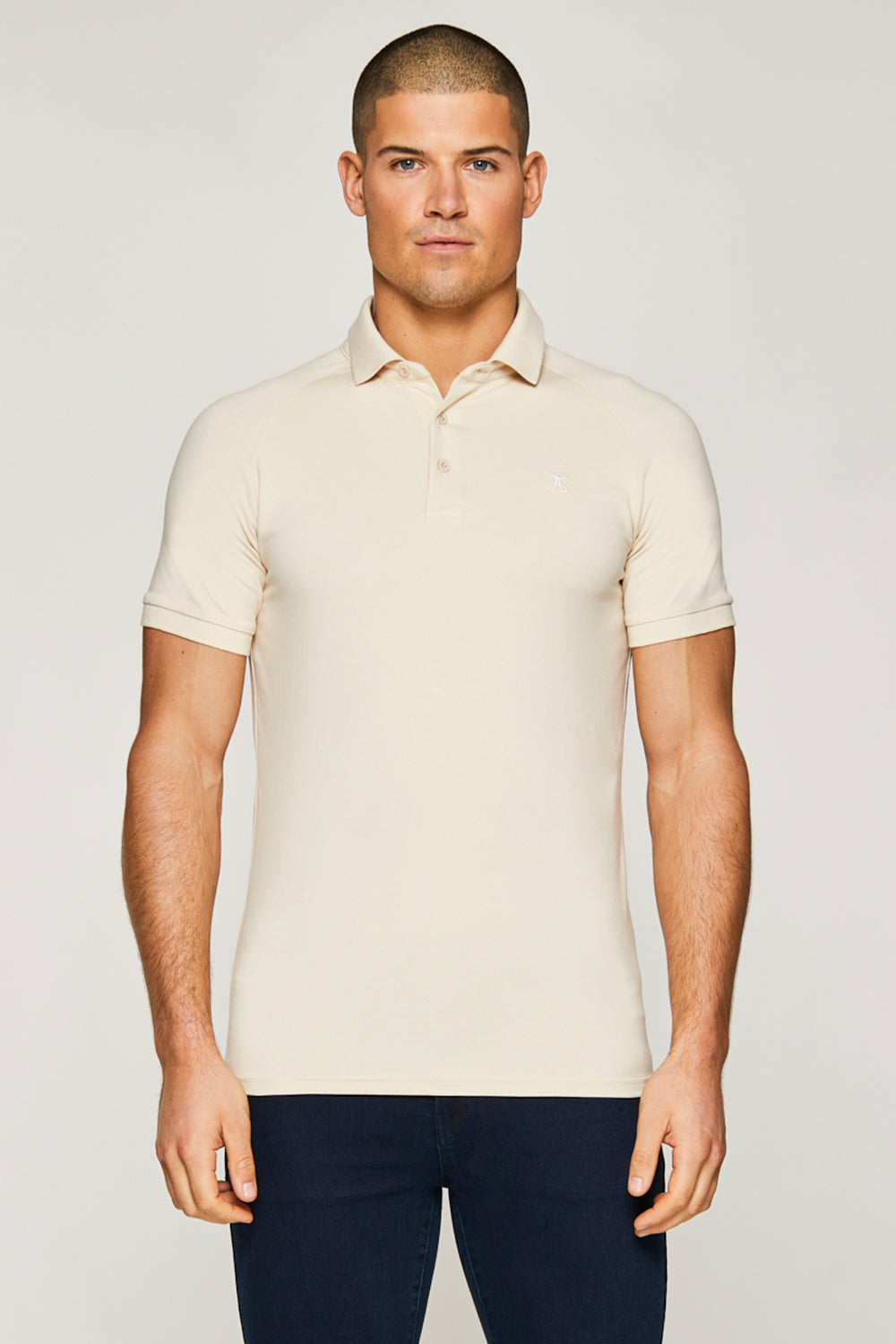 Essential Polo Shirt in Sand