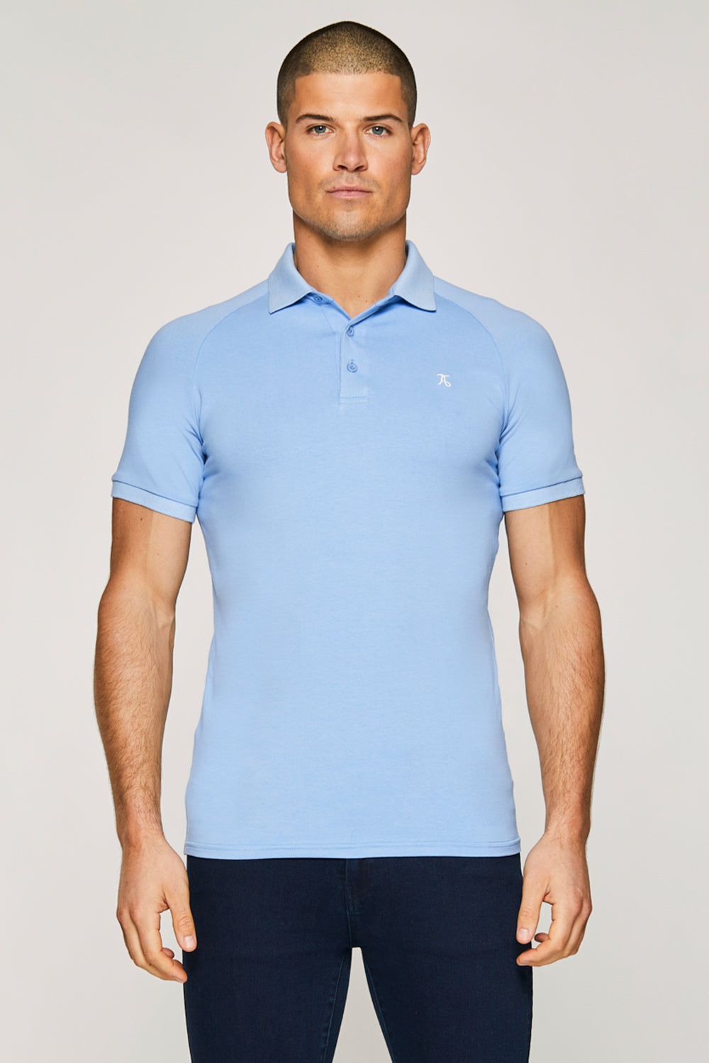 Essential Polo Shirt in Blue Melange