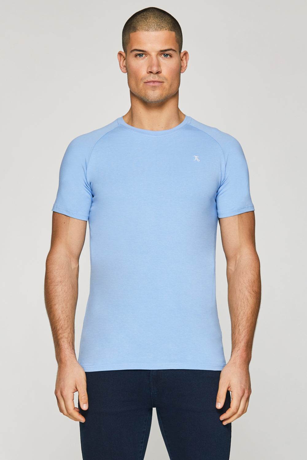 Essential T-Shirt in Blue Melange