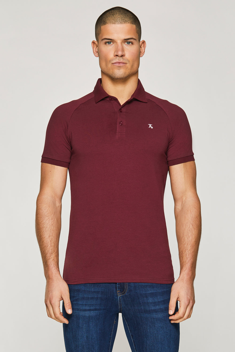 Essential Polo Shirt in Burgundy