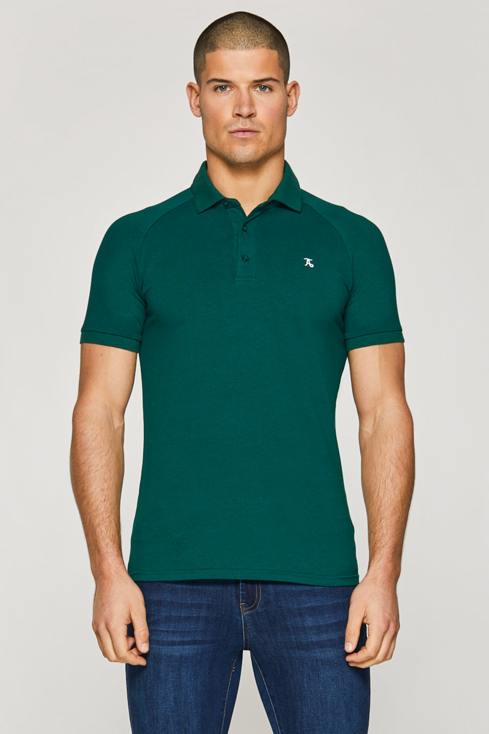 Essential Polo Shirt in Oxidised Green