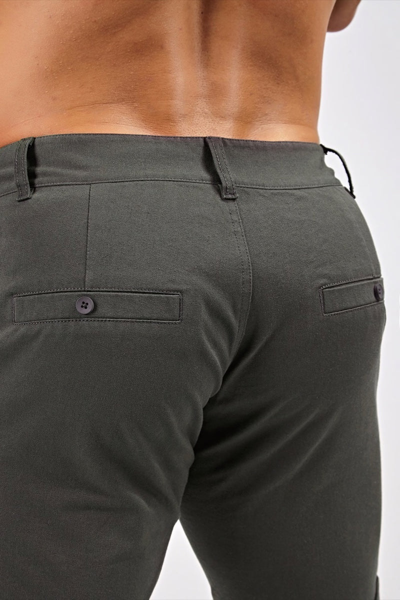 Stretch Chino Shorts in Charcoal