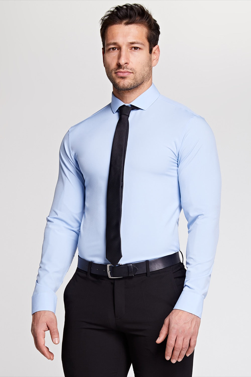 Elite Cutaway Collar Shirt In Light Blue