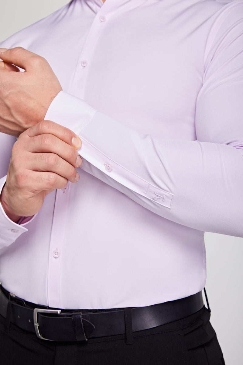Elite Cutaway Collar Shirt In Light Pink