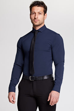 Elite Cutaway Collar Shirt In Navy