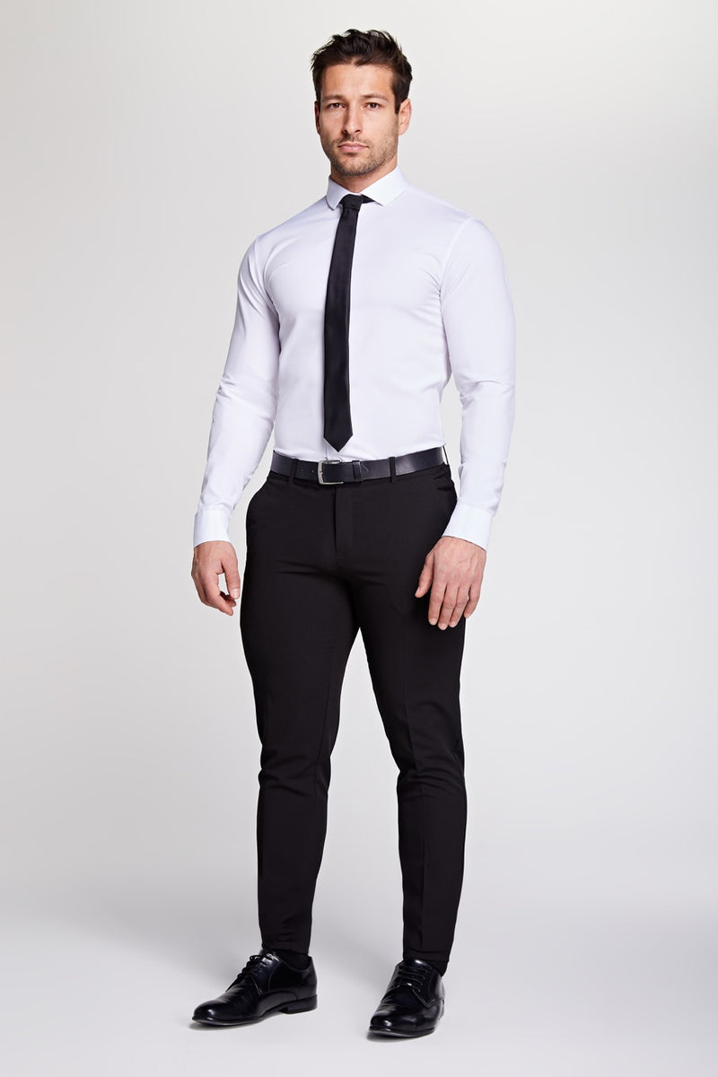 Elite Cutaway Collar Shirt In White