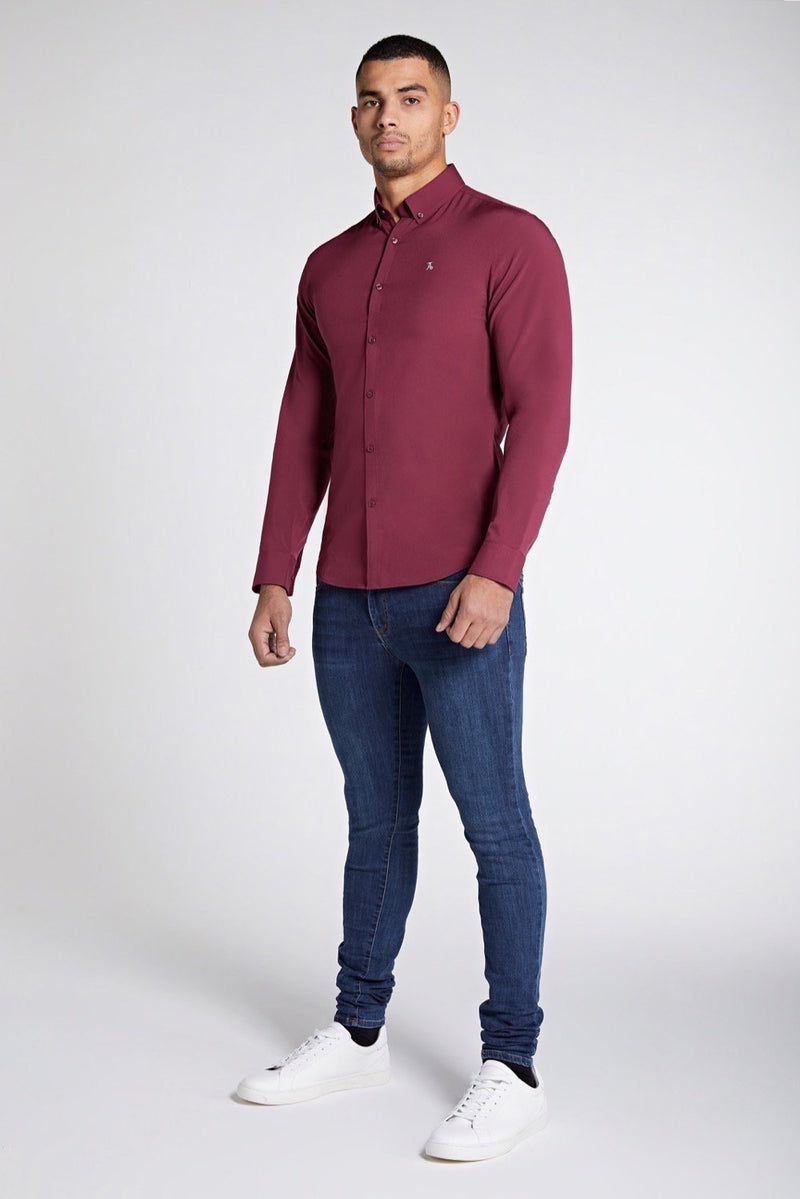 Elite Signature Shirt in Burgundy