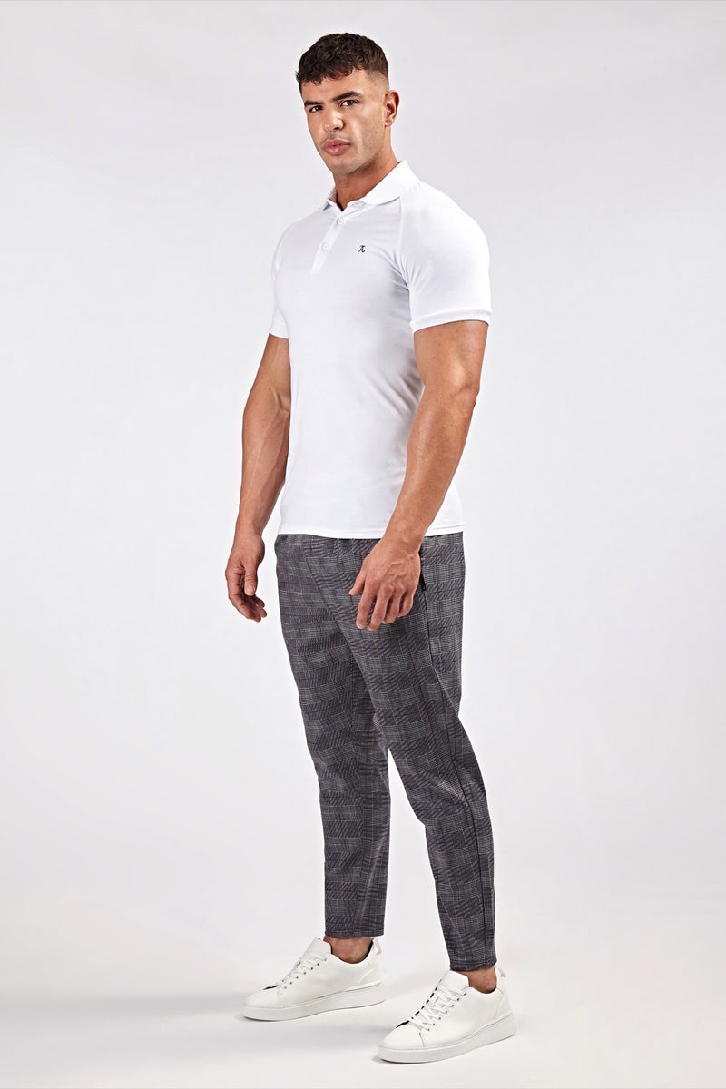 Smart Cropped Joggers in Prince of Wales Grey