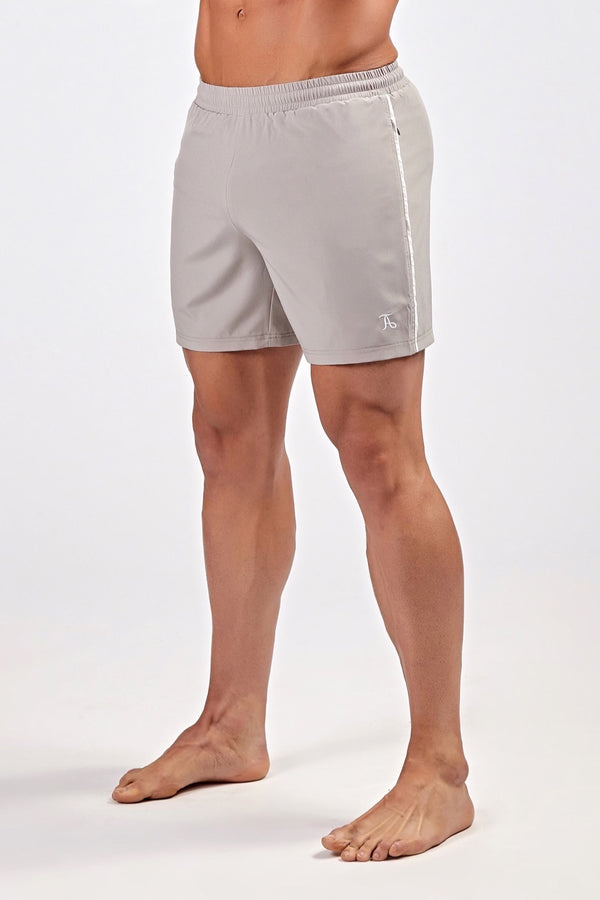 Stretch Swim Shorts in Grey