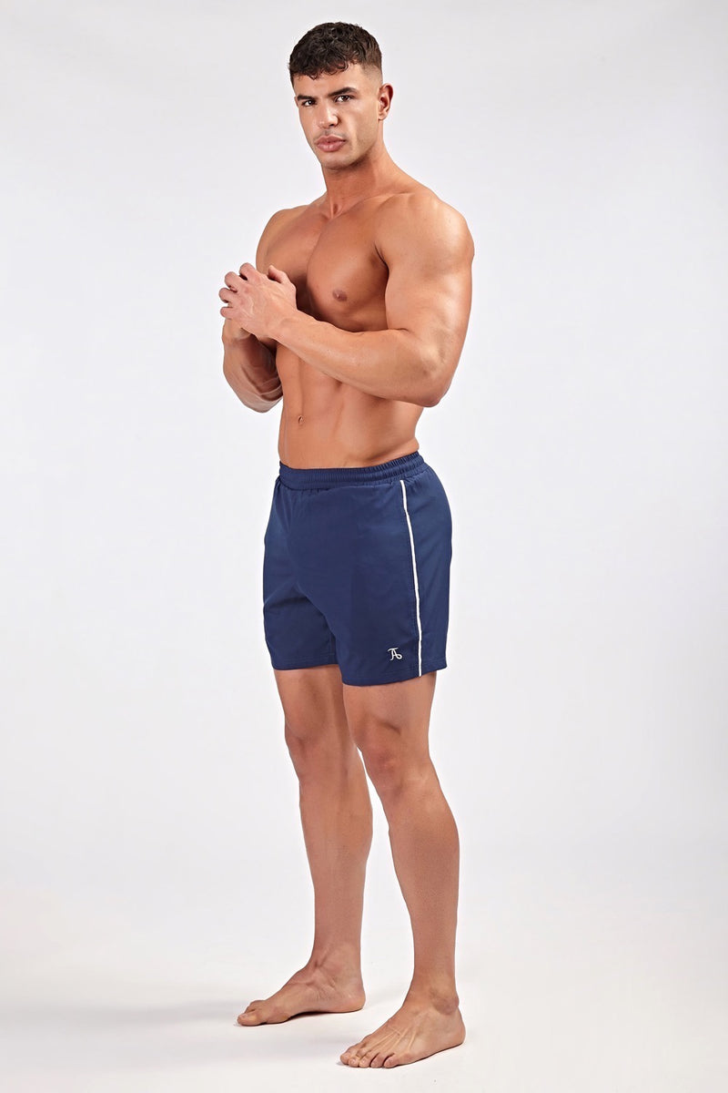 Stretch Swim Shorts in Navy