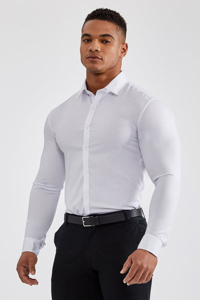 0f82b95cb5a Essential Dress Shirt in White – TAILORED ATHLETE