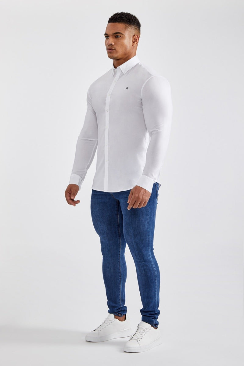 Essential Stretch Shirt in White