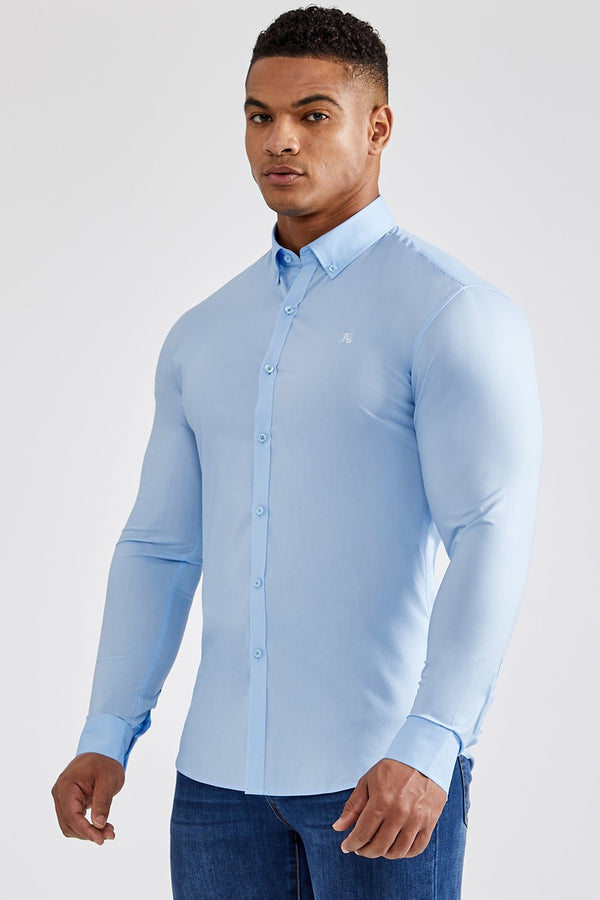 Essential Stretch Shirt in Light Blue