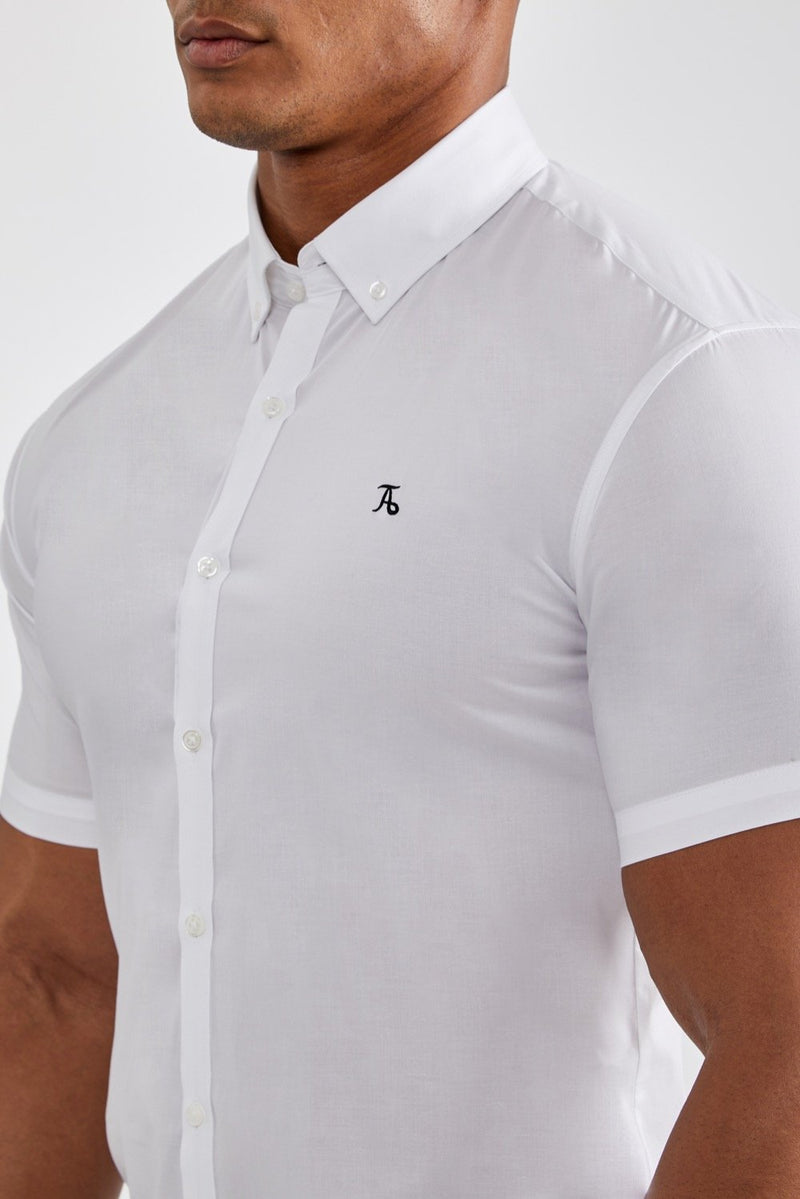 Essential Stretch Shirt (SS) in White