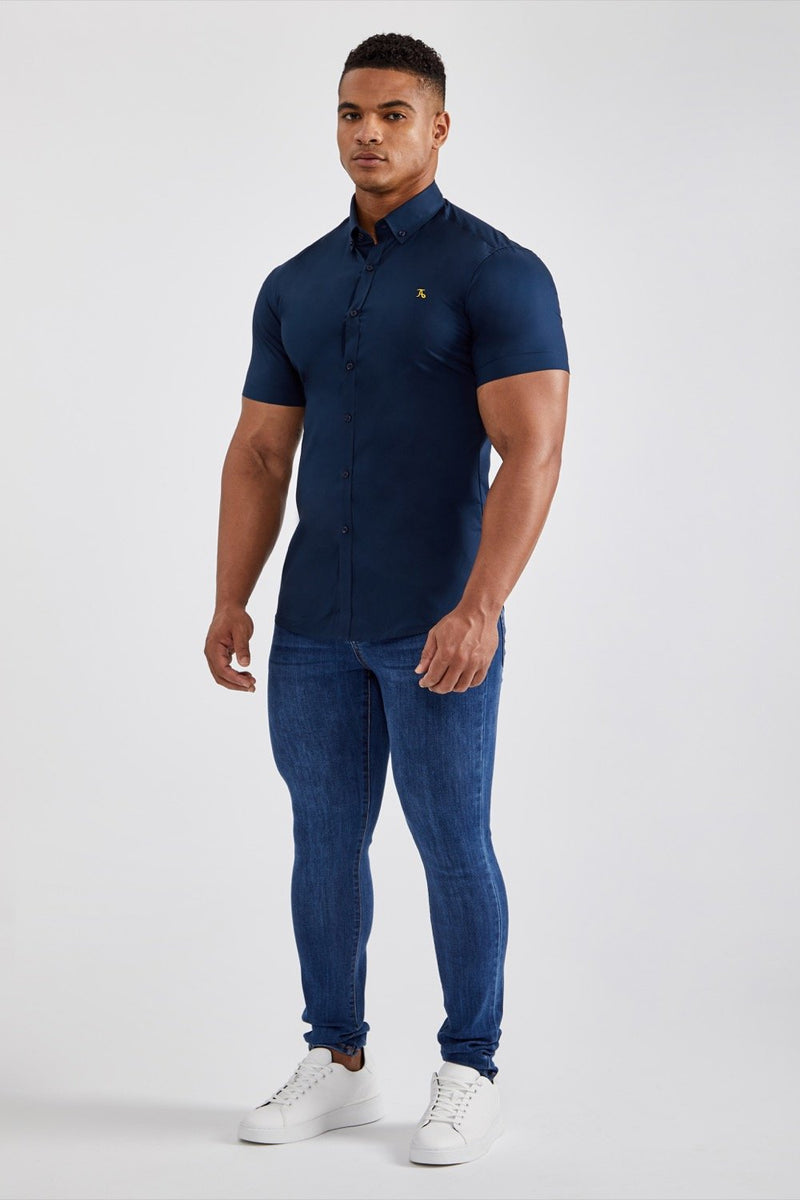 Essential Stretch Shirt (SS) in Navy