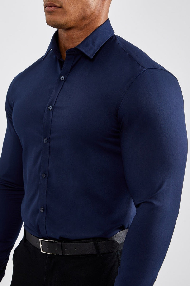 Essential Dress Shirt in Navy