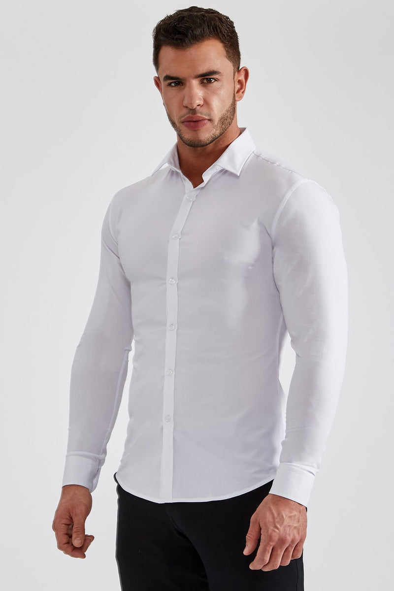 Stretch Bamboo Shirt in White