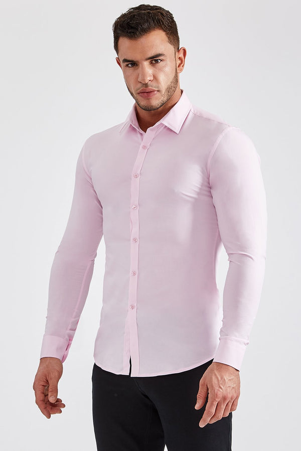 Stretch Bamboo Shirt in Light Pink