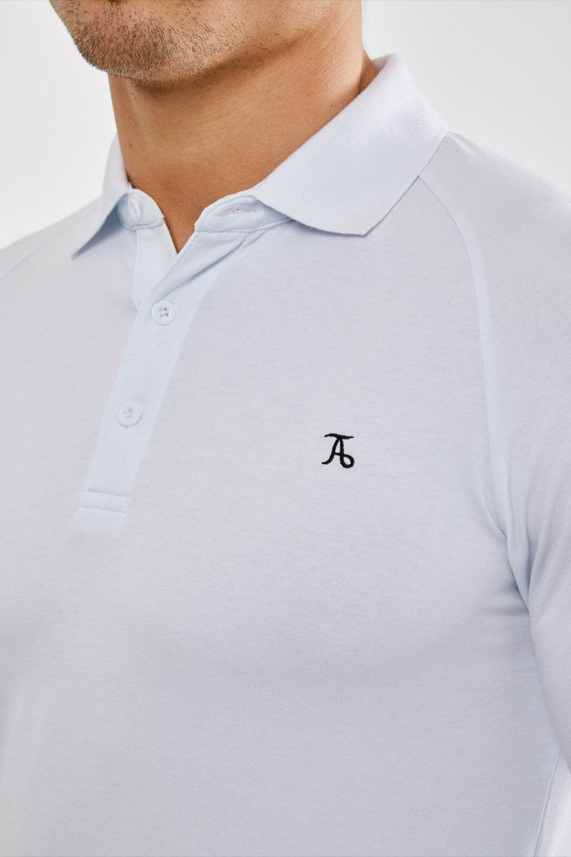 Stretch Polo Shirt (LS) in White