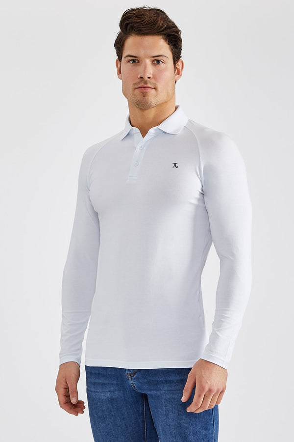 Essential Polo Shirt (LS) in White
