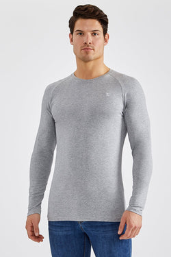 Stretch T-Shirt (LS) in Grey