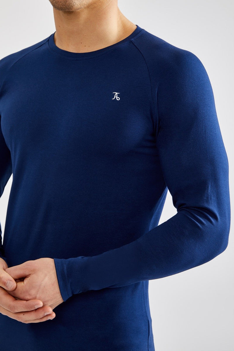 Stretch T-Shirt (LS) in Navy