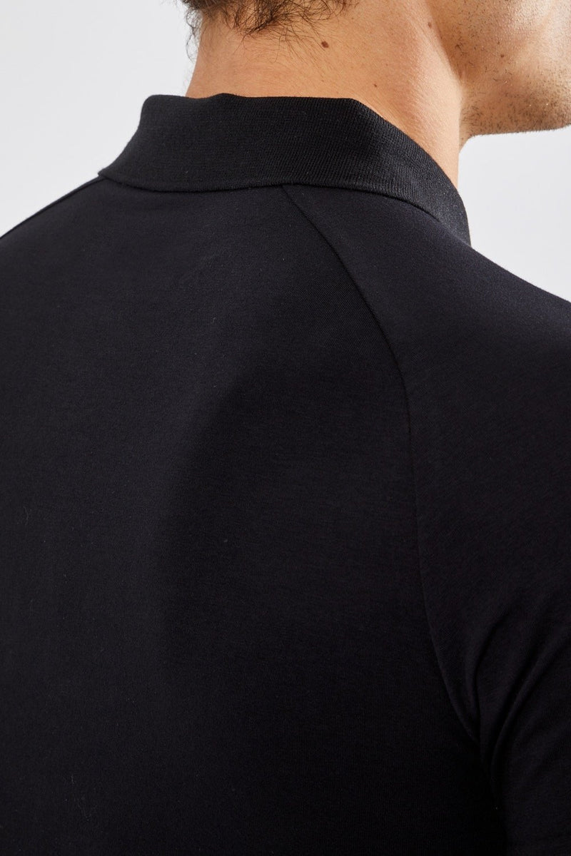 Essential Polo Shirt in Black