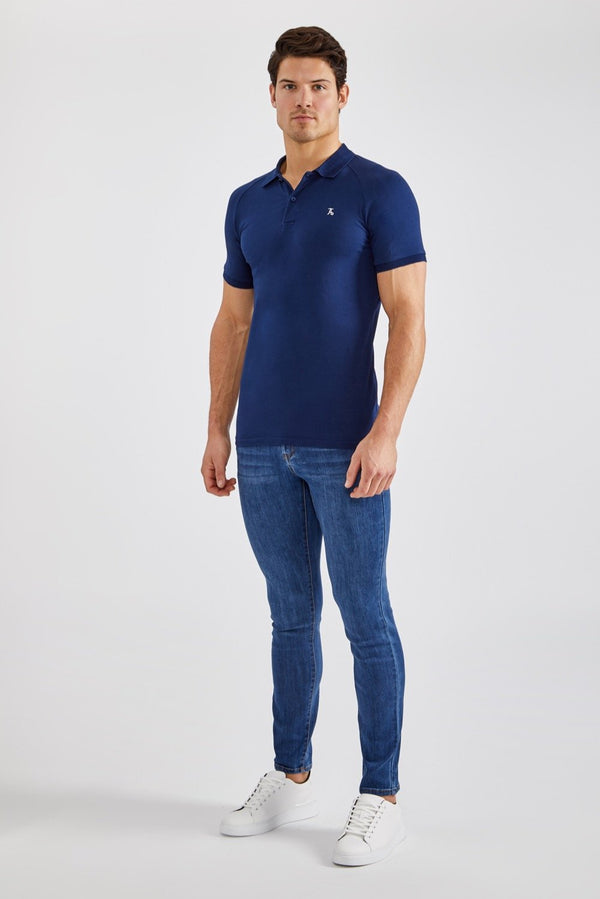 Stretch Polo Shirt in Navy