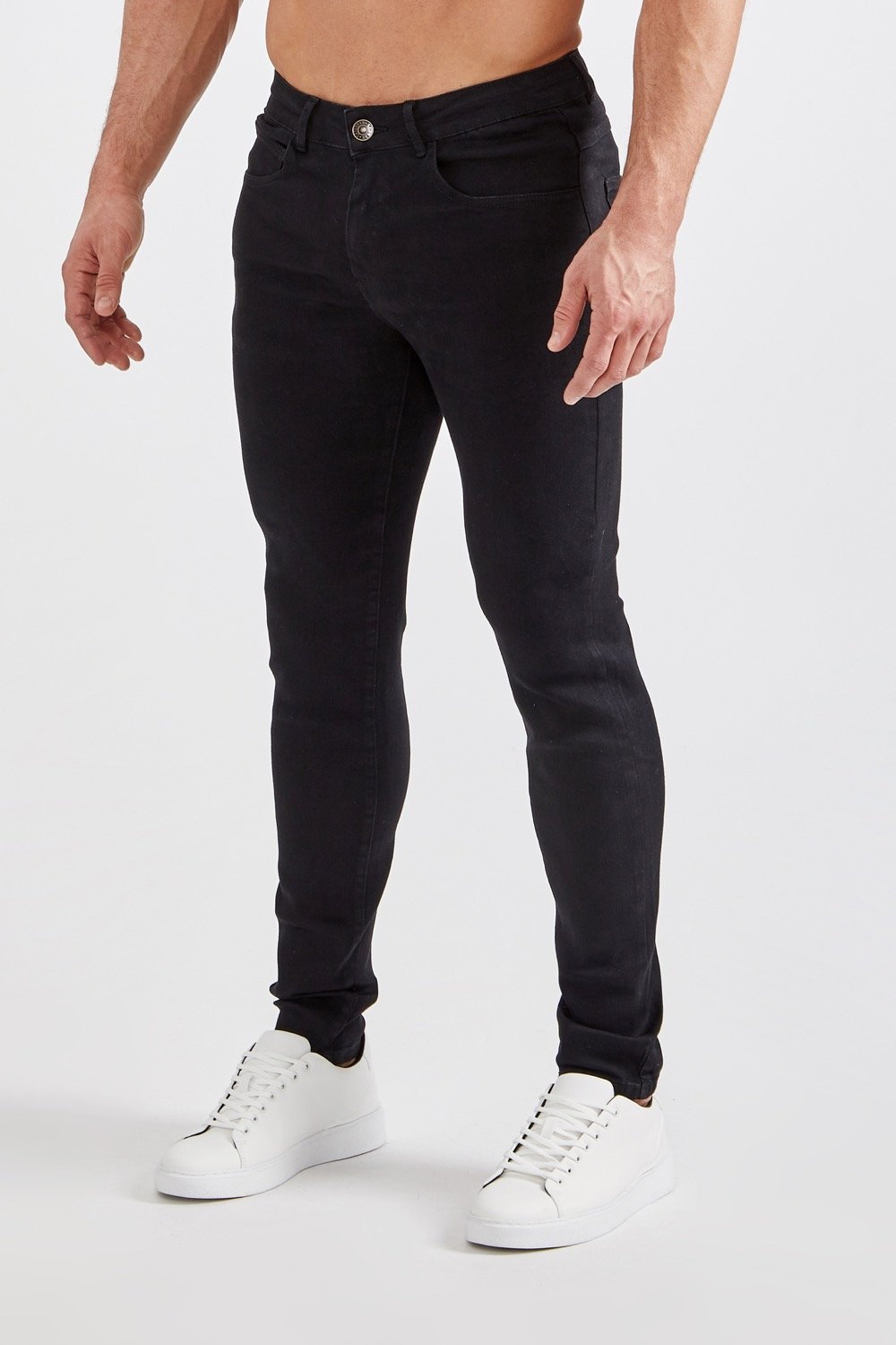 Premium Stretch Jeans in Black