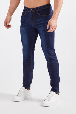 Premium Stretch Jeans in Dark Blue