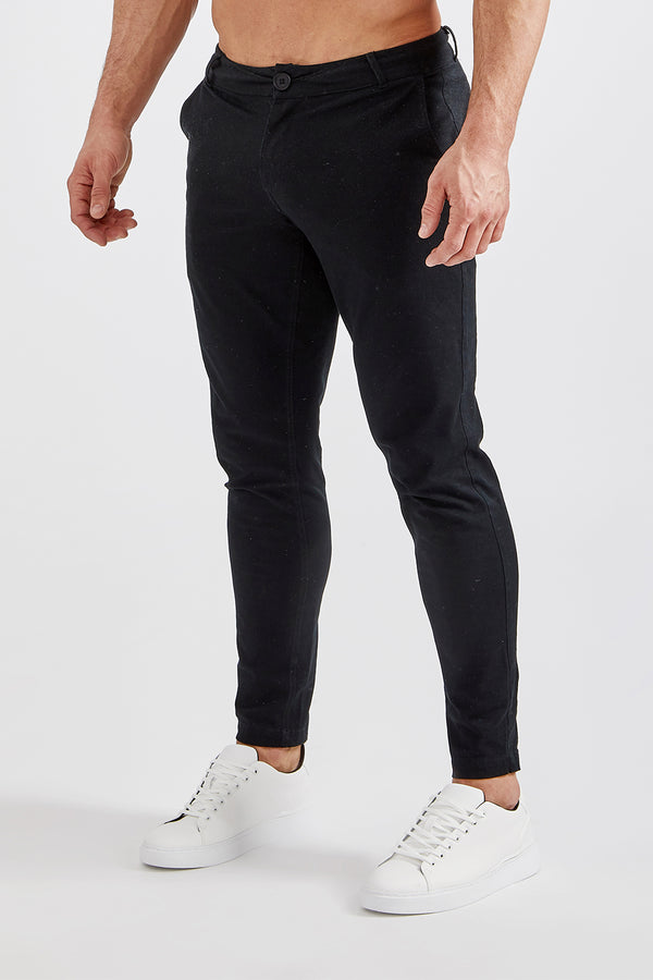Premium Stretch Chinos in Black