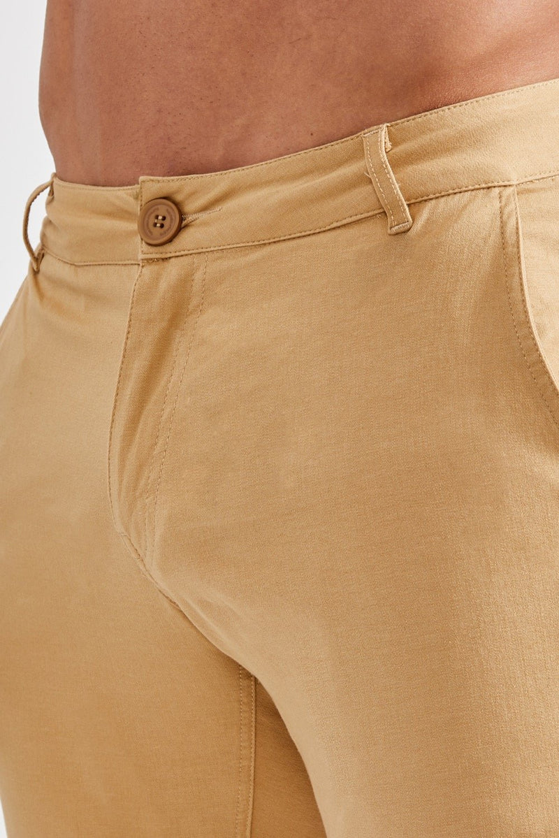 Premium Stretch Chinos in Beige