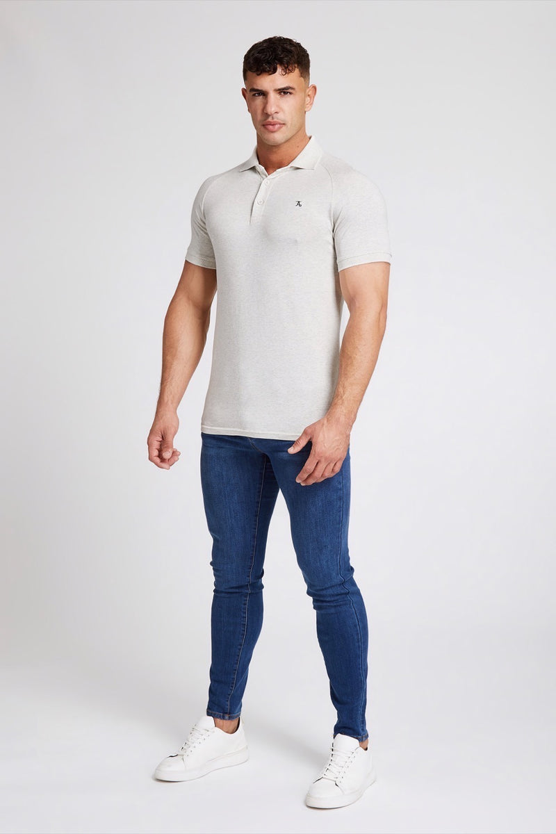 Stretch Polo Shirt in Marl