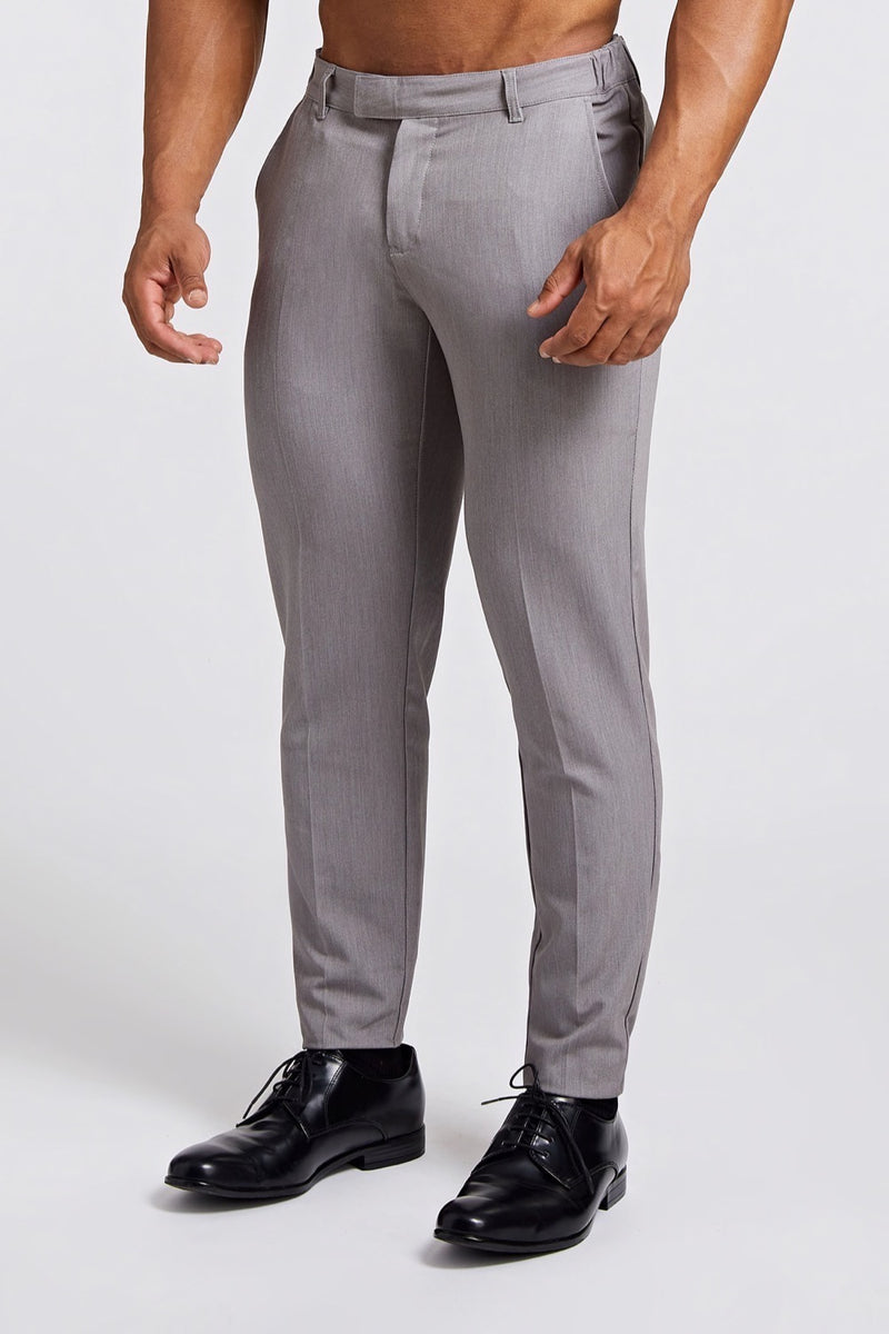Premium Stretch Trousers in Slate Grey