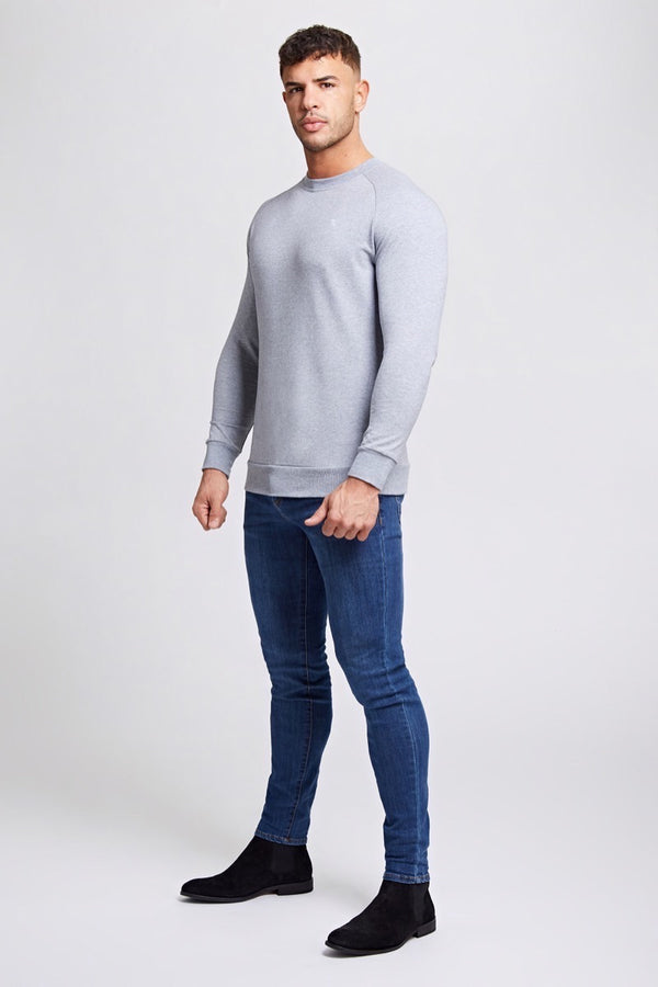 Crew Neck Sweater in Grey