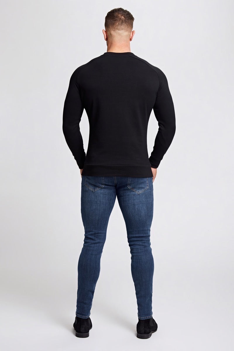 Crew Neck Sweater in Black