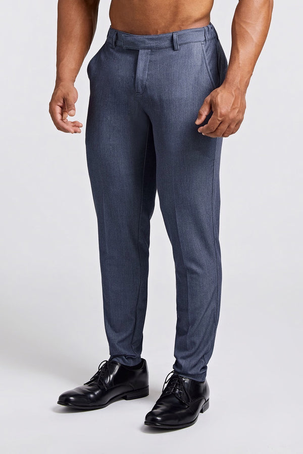 Premium Stretch Trousers in Chambray