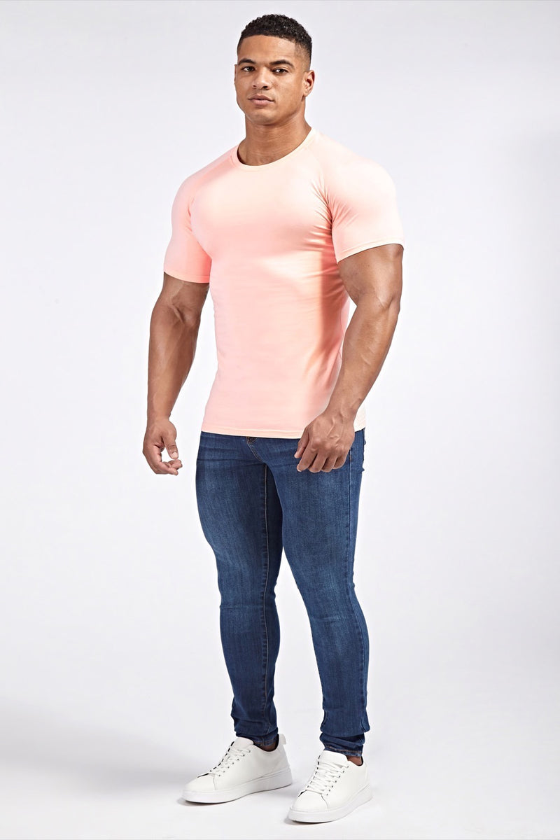 Stretch T-Shirt in Light Pink (SS19)