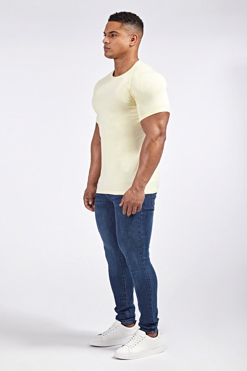 Stretch T-Shirt (SS19) in Light Yellow