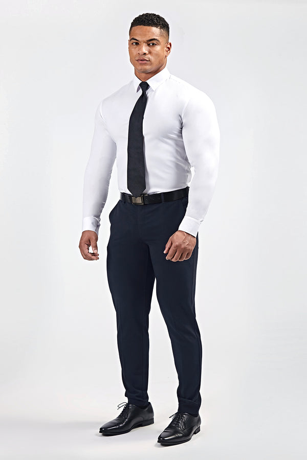 Premium Stretch Trousers in Navy