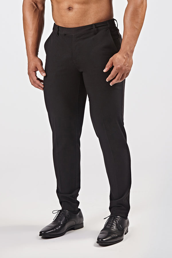 Premium Stretch Trousers in Black
